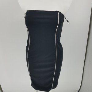 Mini Strapless Tube White Panel Dress Size OX / 2X
